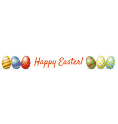 happy easter web banner vector image vector image