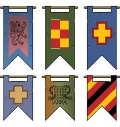 heraldic banners vector image vector image