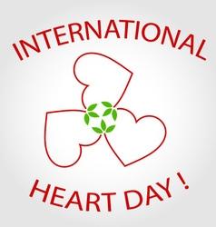 International heart day card vector