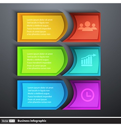 Modern design template infographics for business vector image