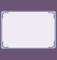 Purple background and frame vector