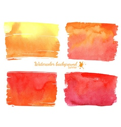 Red and orange watercolor banner vector