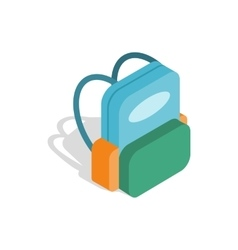 School backpack icon isometric 3d style vector