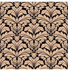 Seamless pattern of beige floral arabesque motifs vector image vector image