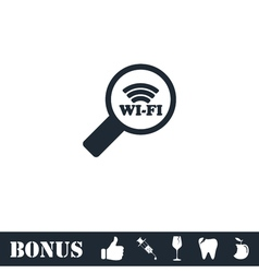 Search wi-fi connection icon flat vector image vector image