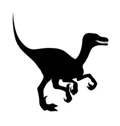 Silhouette of a velociraptor vector