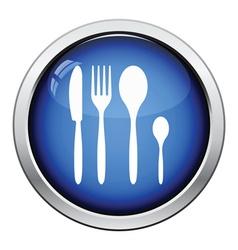 Silverware set icon vector image