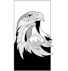 Sketch eagle head vector