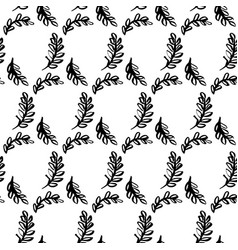 Spring leaf brush seamless pattern vector