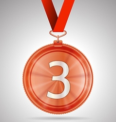 third place medal vector image vector image