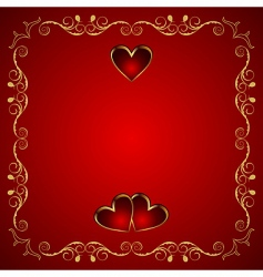 valentine greeting card with heart vector image vector image
