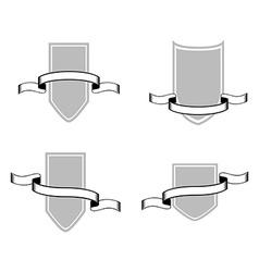 Set of heraldry shields vector