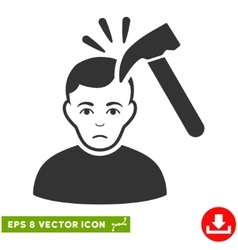 Murder with hammer eps icon vector