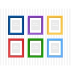 Colored photo frames vector image