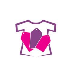 t-shirt tag vector image