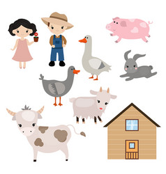 Set of farm animals set of farm animals vector