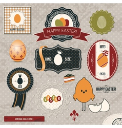 Vintage easter set vector
