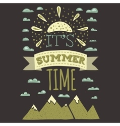 It is summer time typographics print designs in vector image