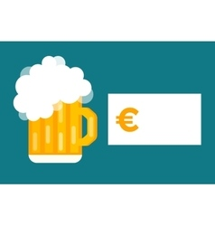 Beer bottle price blank vector