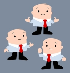 Cartoon Office Character vector image