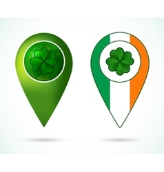 Ireland location mark vector