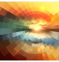 Abstract colorful circle technology mosaic vector