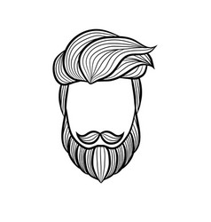 Beard man logo element - vector