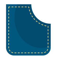 Blue pocket icon isolated vector