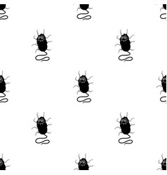 Blue virus icon in black style isolated on white vector