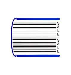 Book stylized as barcode vector image vector image