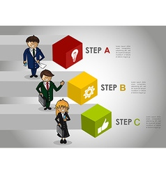 Business infographic strategy concept work vector image vector image