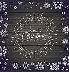 Christmas festival background with snowflakes vector