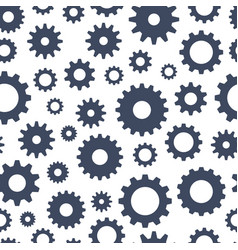 cogs seamless pattern technical background vector image