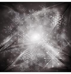 Dark Christmas background vector image vector image