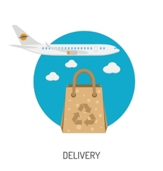 Delivery goods flat icons vector