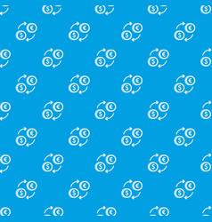 euro dollar euro exchange pattern seamless blue vector image