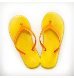 Flip flops icons vector image vector image