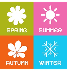 Four Seasons vector image vector image