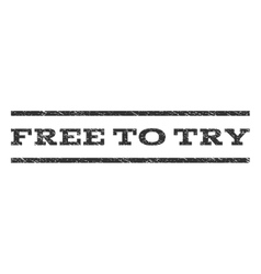 Free to try watermark stamp vector