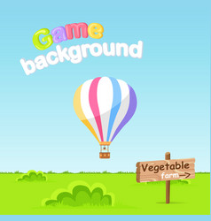 game background vegetable farm sign board vector image vector image