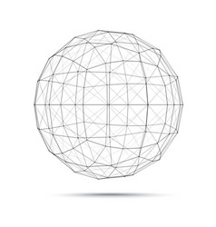 geometric wire mesh sphere vector image vector image