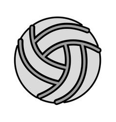 Grey volley ball cartoon vector