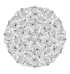 Hand drawn mandala vector