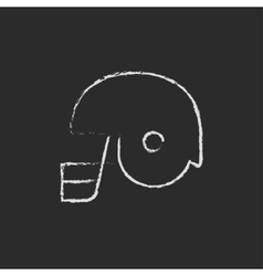 Hockey helmet icon drawn in chalk vector image vector image