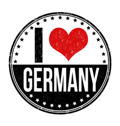 i love germany stamp vector image