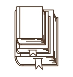 Isolated literature book design vector