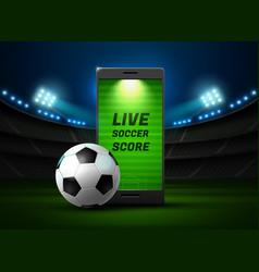 Mobile football online vector
