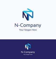 N company logo vector image