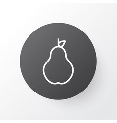 pear icon symbol premium quality isolated duchess vector image vector image