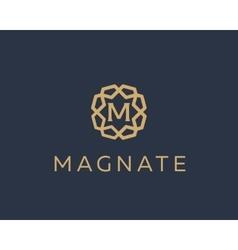 Premium letter M logo icon design Luxury vector image